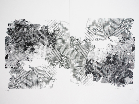 Serie of cities -Montreal-. Serigraph. 2013.